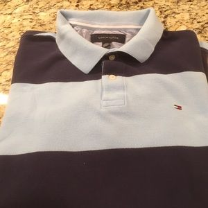 Tommy Hilfiger Blue Striped Polo